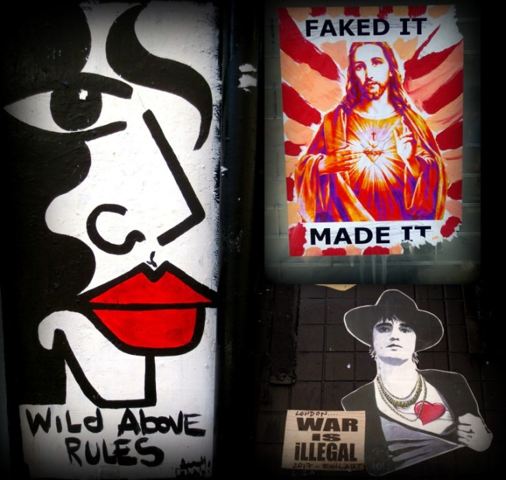 Jesus & Pete Doherty London Streetart